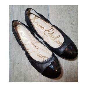 Sam Edelman Baxton 2 Patent Leather Cap Toe Flats